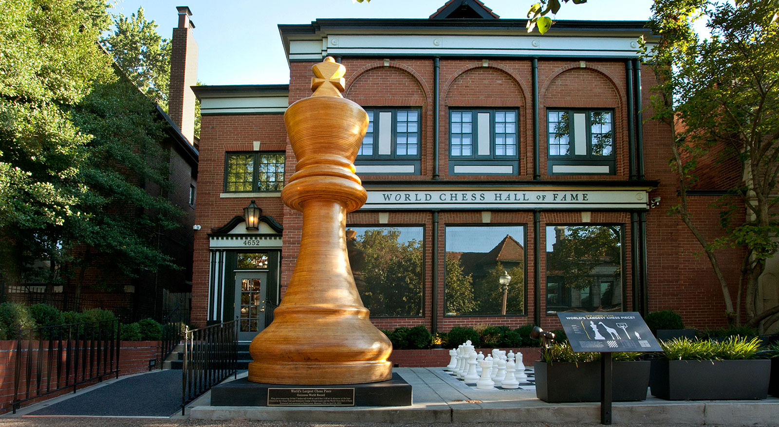 World Chess Hall of Fame building exterior and World's Largest Chess Piece