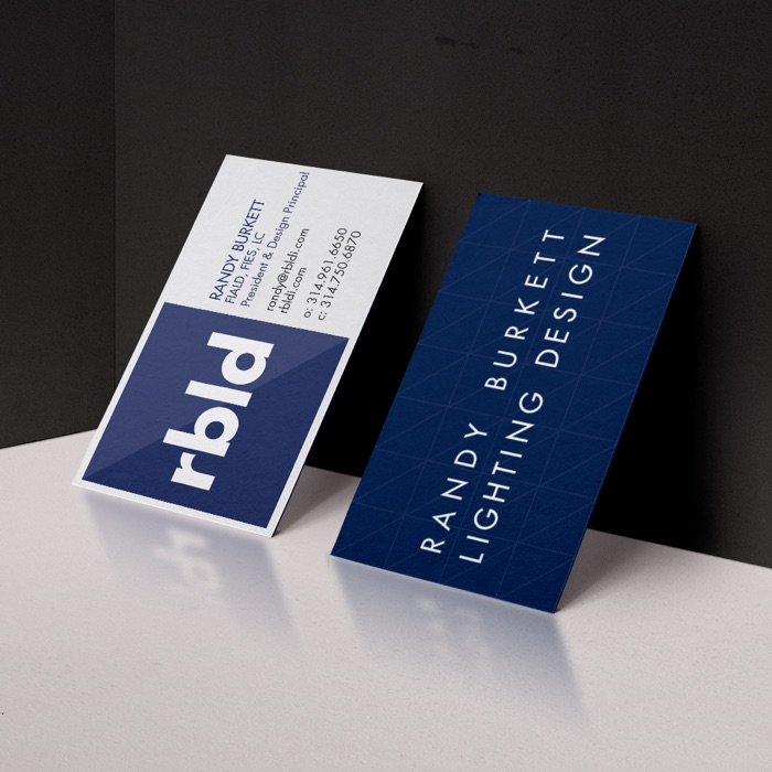 Randy Burkett Lighting Design Business Cards