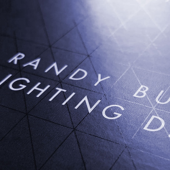 Randy Burkett Lighting Design Business Card Detail
