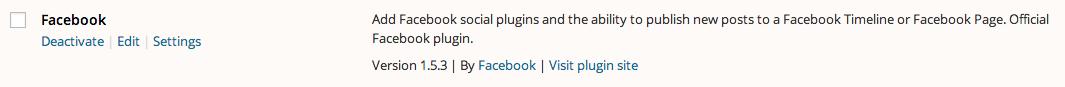 Activate the Facebook for WordPress Plugin