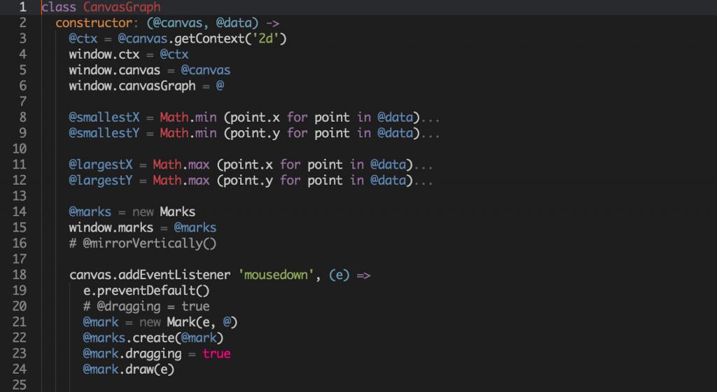 Example of Atom Light UI Theme with the Dimmed Monokai Syntax Theme