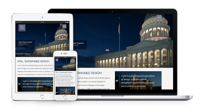 Randy Burkett Lighting Design Multi Device Responsive Website