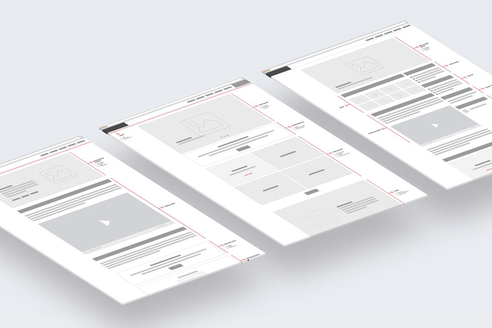 UX - Content architecture wireframes
