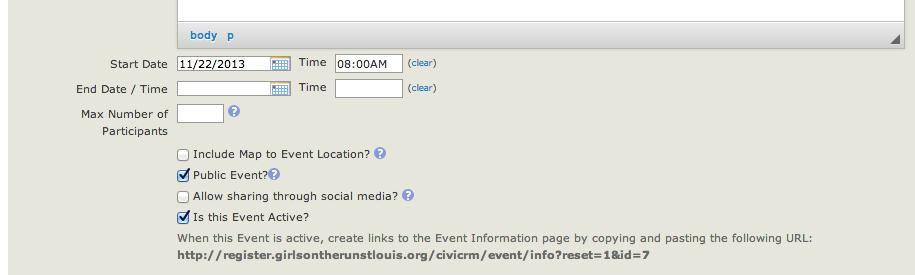 Online Registration Tab
