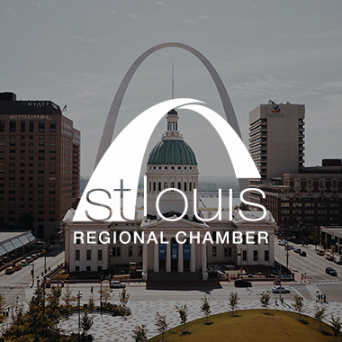 St. Louis Regional Chamber logo and work example