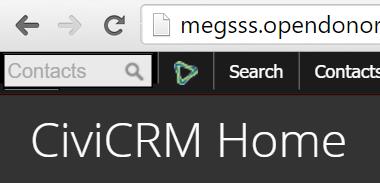 CiviCRM Home→Search